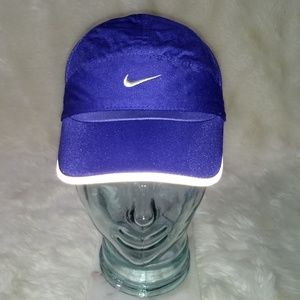 Nike Baseball Hat Mesh Sides Purple Adjustable